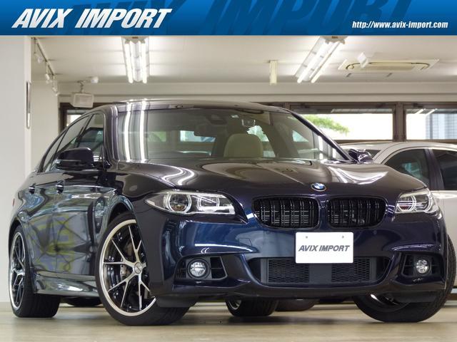 BMW 5シリーズ アクティブハイブリッド5 Mスポーツ 後期型 ベージュ革 SR HDDナビ地デジBカメラ タッチパッド LEDライト ACC Dアシストプラス レーンチェンジウォーニング 前席シートヒーター Rブラインド Wエアコン Weds製20AW