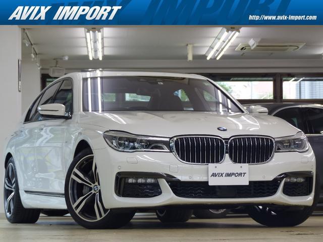 BMW 7シリーズ 740i Mスポーツ 黒革 SR HDDナビ地デジTOP&3Dビューカメラ ヘッドアップD ACC ハーマンカードン 前後席シートヒーター 前席ベンチレーション 自動トランク Wエアコン Dアシストプラス 20AW 禁煙