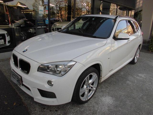 BMW X1 sDrive 18i Mスポーツ 純正ナビ バックカメラ ミラー型ETC 前後センサ- スマートキー USB リヤ3面スモ-ク