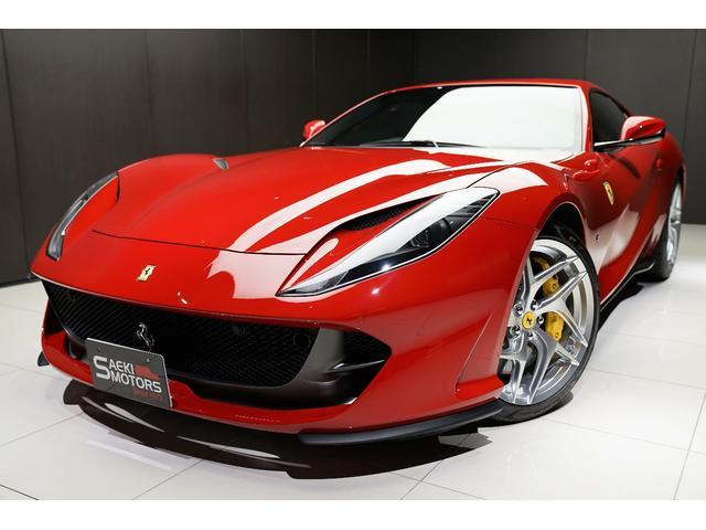 フェラーリ  2018年モデル 正規D車 カーボンパーツ フロントリフター 20インチ鍛造AW LHD 特別色Rosso70ANNI