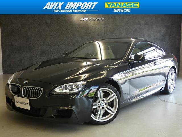 BMW 640iクーペMスポーツPKG SR白革 TV LEDライト