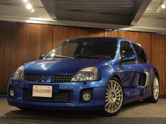 ルノー ルーテシア V6レザーバージョン ディーラー車 左ハンドル 6速MT車 ブルーレザーシート OZ製18AW