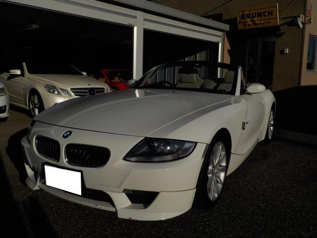 BMW Z4 ロードスター2.5i 車検整備付き ベージュ幌 ベージュ革シート 電動オープン ナビ アルミホイール