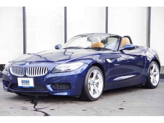 BMW Z4 sDrive35i Mスポーツ 希少ディープシーブルー ウォルナットレザー HDDNAVI ETC Mスポーツ 18AW HID 3Lツインターボ306ps シートヒーター