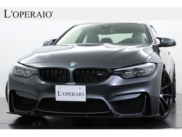 BMW M4 M4クーペ 後期モデル 希少6MT 左H シルバーストーンレザー アクラポビッチチタンマフラー レイズ20インチAW 3DデザインカーボンF&Rスポイラー H&Rダウンサス カーボントリム