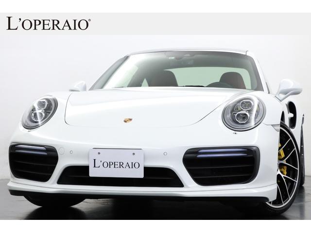 ポルシェ 911 911ターボS 赤革 スポーツクロノ PCCB 20インチ鍛造AW サンルーフ PDLS+LEDライト エントリー&ドライブ ブルメスター アダプティブスポーツシート ベンチレーター GTスポーツステアリング