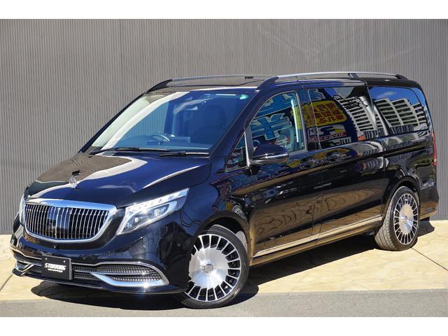 メルセデス・ベンツ V260 ロング 限定車 ガソリン リアエアコン付き マイバッハスタイルバンパーグリルフード20AW ルーフレール 12.8インチフリップダウンモニターカロDVD