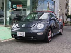 VW ニュービートルカブリオレダークフリント 特別仕様車 赤革 赤幌 キセノン Sヒーター