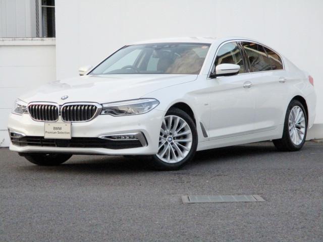 BMW 5シリーズ 523iラグジュアリー ブラックレザー タッチパネルHDDナビゲーション スマートキー 衝突軽減ブレーキ ステアリングサポート 全方位カメラ コーナーセンサー 自動駐車 LEDヘッドライト BMW正規ディーラー認定中古車