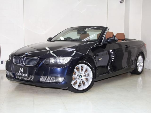 BMW 335iカブリオレ右H 本革 HDDナビ 禁煙 記録簿10枚