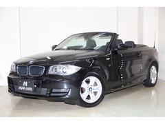 BMW120i カブリオレ 黒革 HDDナビ DTV DVD 禁煙