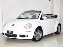 VW ニュービートルカブリオレLZ 後期モデル 青紺幌新品! 本革シート 電動オープン