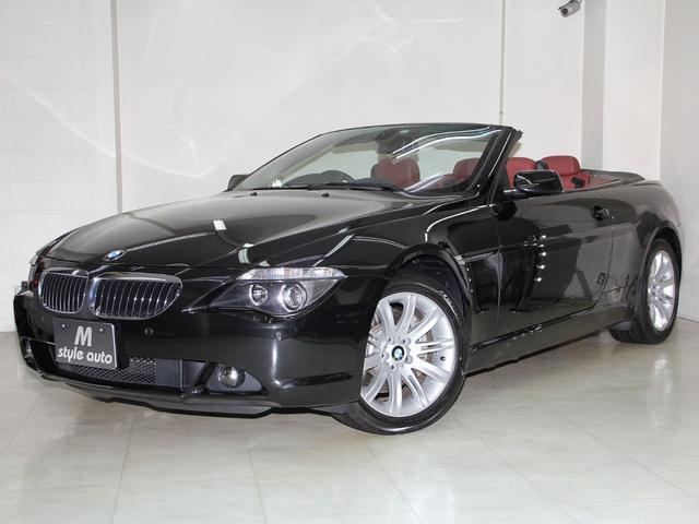 BMW 6シリーズ 650iカブリオレ /ワイン本革メモリーパワーシート/禁煙/1オーナー/記録簿8枚有り