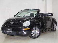 VW ニュービートルカブリオレLZ 黒パール/黒本革シート 禁煙 1オーナー記録簿