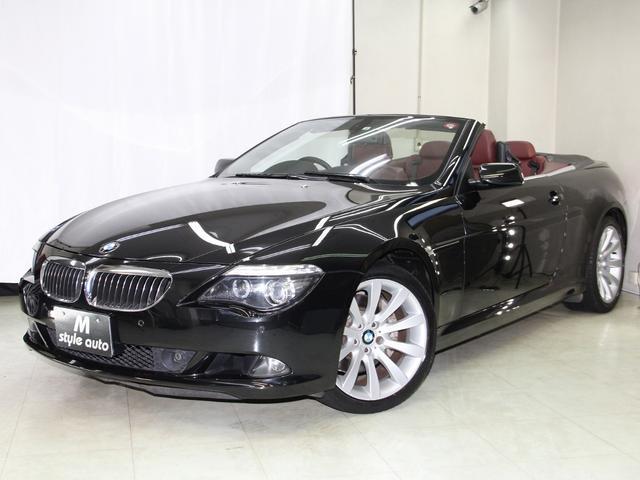 BMW 650iカブリオレ 後期モデル/保証付き/電子シフト/パドルシフト/ワイン本革メモリーパワーシート/シートヒーター/電動オープン/記録簿付き