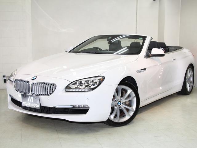 BMW 650iカブリオレ /禁煙/法人1オーナー/ディーラー点検記録簿/黒本革シート/シートエアコン/シートヒーター/ナビ/フルセグTV/携帯通話・音楽Bluetooth/DVDビデオ/音楽サーバ/バックカメラ/バックセンサー