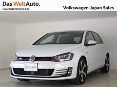 VW ゴルフGTI DCC 18AW 黒レザー 純正ナビ 白パール 認定中古車