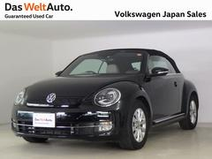 VW ザ・ビートル・カブリオレベージュレザー内装仕様 純正ナビ 禁煙車 認定中古車
