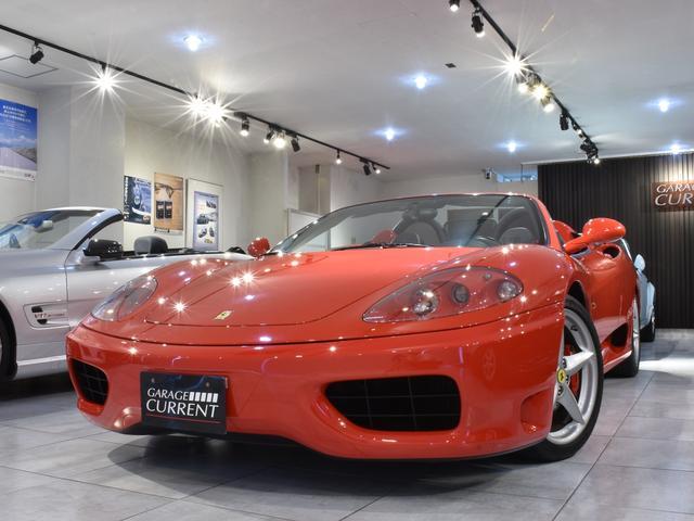フェラーリ スパイダー タイベル交換後ご納車 チャレンジグリル 6速マニュアル レッドキャリパー 赤ステッチブラックレザー