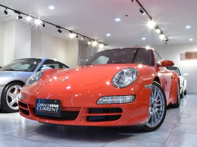 ポルシェ 911カレラ4S 2008年モデル スポクロ サンルーフ シートヒーター オールレザーインテリア OP19インチアルミホイール レッドメーター レッドシートベルト 専用テスター診断済み 新車時保証書