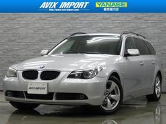 BMW525iTRGハイラインPKG 黒革パノラマSR 純正ナビ