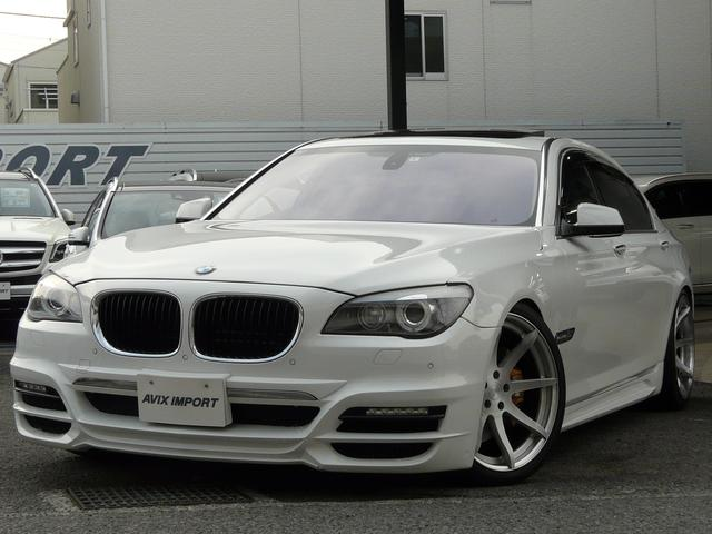 BMW 750Li 黒革SR WALDフルエアロ BC21インチAW