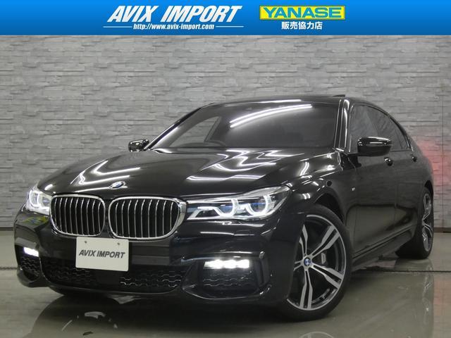 BMW 750i Mスポーツ 1オナ禁煙 衝突回避 SR茶革 全周囲