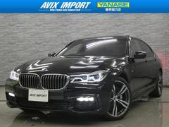 BMW750i Mスポーツ 1オナ禁煙 衝突回避 SR茶革 全周囲