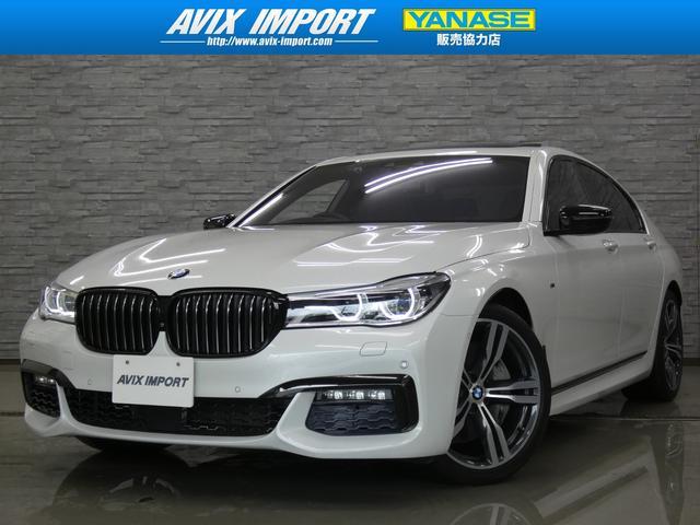 BMW 750i Mスポーツ 右H 1オナ禁煙 衝突回避 SR 黒革