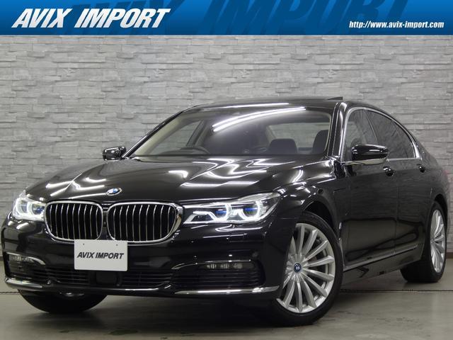 BMW 740eアイパフォーマンス エクゼクティブ 右H 黒革 SR インテリセーフ ナビ TV 全周&3Dカメラ PDC コンフォートアクセス M付パワーシート ヒーター ベンチレーター ハーマンカードン  アダプティブLEDライト 19AW