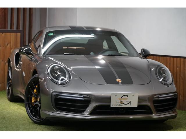 ポルシェ 911 911ターボS 後期モデル 左ハンドル アクティブクルーズ エントリードライブ カーボンラッピング 純正20AW シートベンチレーション GTスポーツステア カラースポーツクロノパネル ワンオーナー ディーラー車