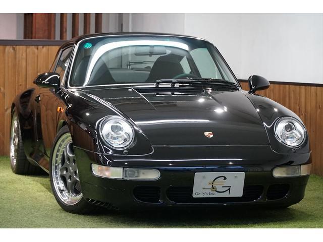 ポルシェ 911 911カレラ4S 993カレラ4S 6速MT ワイドボディ 4WD RS専用18AW RS専用シフト リアウィング リトロニックヘッドライト BILSTEIN車高調 品川35 2桁ナンバー 記録簿18枚 ディーラー車
