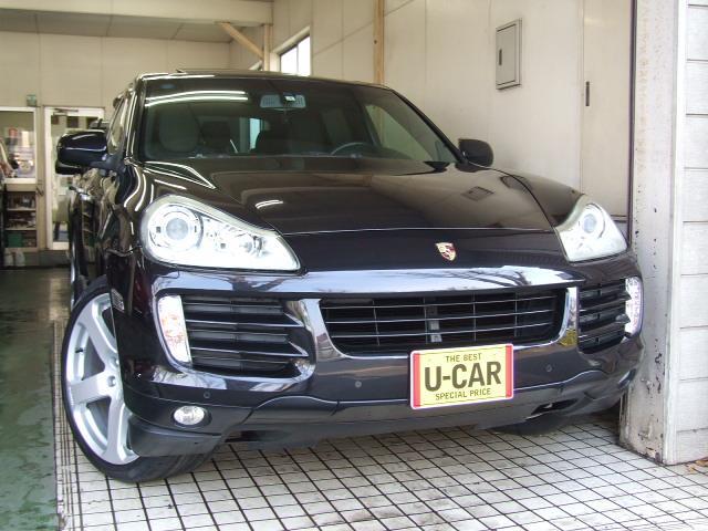 ポルシェ S 6速AT4WD黒本革ガラスSR22インチAWナビTV