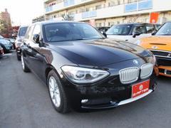 BMW116i スタイルハーフレザー純正HDDナビコーナーセンサー