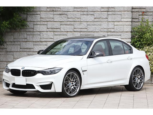 BMW M3 M3セダン コンペティション レッドレザー 専用20インチAW 軽量Mスポーツシート harman/kardonサウンド パールホワイト ワンオーナー
