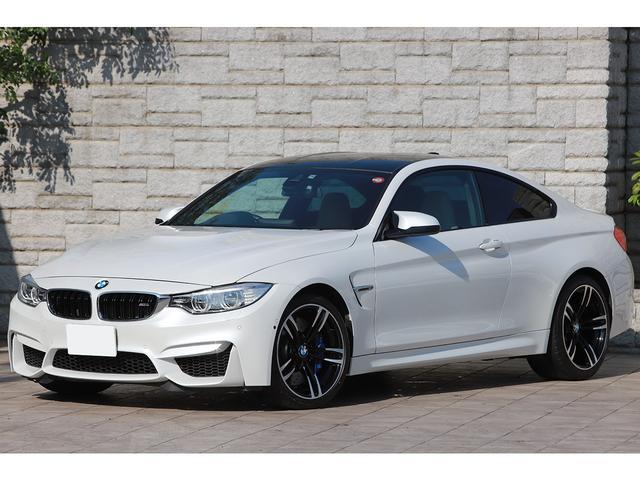 BMW M4 M4クーペ 6MT 右ハンドル ベージュレザー フルレザーメリノインテリア パーキングサポートPKG OP19インチAW パールホワイト ワンオーナー