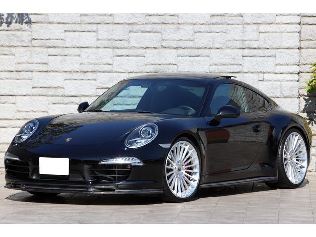 ポルシェ 911 911カレラS スポーツクロノPKG レザーインテリア サンルーフ PTVプラス JRZ RS PRO車高調 AGIO鍛造21インチAW マフラー カーボンエアロ