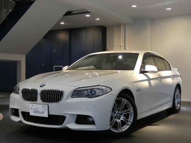 BMW 528i Mスポーツ コンフォA ベージュ革 ナビ 2年保証