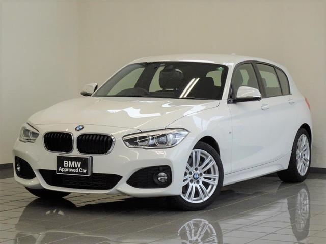 BMW 1シリーズ 118d Mスポーツ リヤビューカメラ パークディスタンスコントロール ドライバーアシスト ブレーキ機能付きクルーズコントロール LEDヘッドライト ETC付ルームミラー 17インチMライトアロイホィール