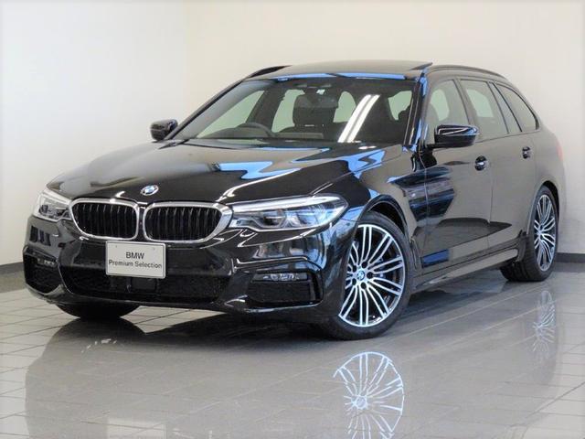 BMW 530iツーリング Mスポーツ セレクトパッケージ ブラックレザー コンフォートアクセス パノラマガラスサンルーフ アクテイブクルーズコントロール ドライバーアシストプラス ハイビームアシスタント ヘッドアップディスプレー 19AW