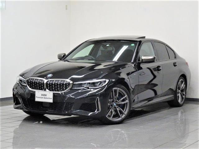 BMW M340i xDrive ブラックレザー ガラスサンルーフ アクティブクルーズコントロール リヤビューカメラ パーキングアシストプラス BMWレザーライト ヘッドアップディスプレー 19インチMダブルスポークアロイホィール