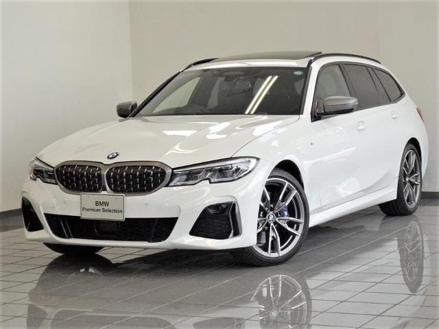 BMW M340i xDriveツーリング ブラックレザー パノラマガラスサンルーフ パーキングアシストプラス リヤビューカメラ アクテイブクルーズコントロール BMWレーザーライト ヘッドアップディスプレー 19インチMダブルスポークAW