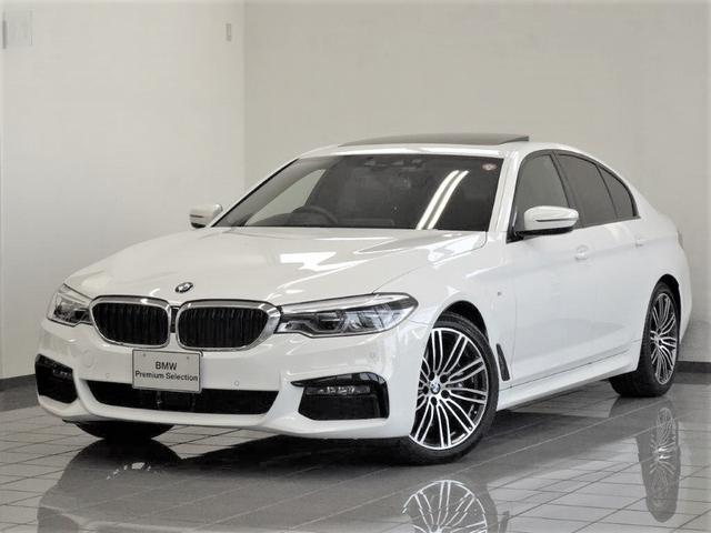 BMW 5シリーズ 530i Mスポーツ セレクトパッケージ ブラックレザー 電動ガラスサンルーフ アクティブクルーズコントロール ドライバーアシストプラス パーキングアシストプラス ハーマンカードンサラウンドサウンドシステム 19AW