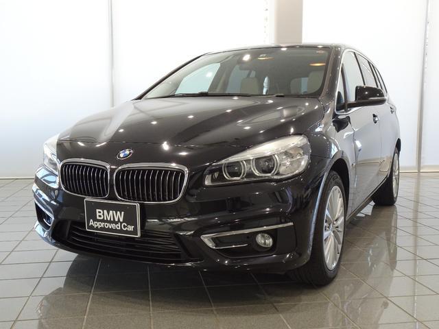 BMW 218dグランツアラー ラグジュアリー 17インチアロイホイール オイスターグレーハイライトパーフォレーテッドダコタレザー リヤビューカメラ 電動フロントシート フロントシートヒーティング ドライバーアシスト iDriveナビゲーション