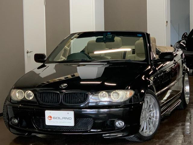 BMW 330Ciカブリオーレ Mスポーツパッケージ ディーラー車 右ハンドル ベージュレザー 電動TOP 社外HDDナビ ブレイトン18AW パワーシート シートヒーター フルセグ対応 後期LEDテール キセノン ドライブレコーダー ETC