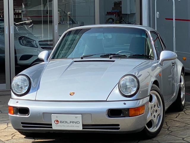 ポルシェ 911 911カレラ2 ディーラー車 964最終モデル 左ハンドル ブラックレザー 純正17AW サンルーフ カーボントリム カーボンRSダクト 社外スポーツサス 社外オーディオ 社外スピーカー USB接続可 ETC