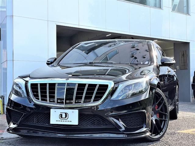 メルセデス・ベンツ S550ロング AMG S6style ブラック各所加工 ローダウン 360度カメラ