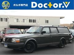 ボルボ240GLEワゴン 最終モデル コロナAW 黒本革 保証付