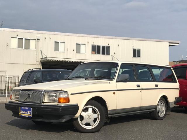 ボルボ 240GLワゴン ブラック本革 純正コロナAW ETC メッキモール仕様 保証付