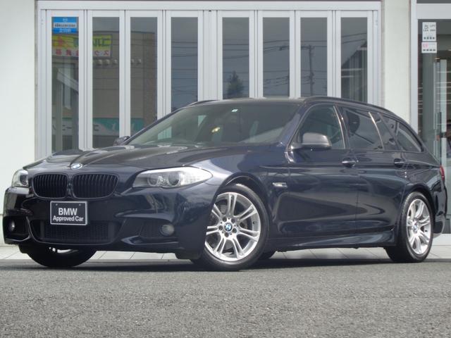 BMW 528iツーリングMスポーツ黒革ウッド地デジナビBカメラ禁煙